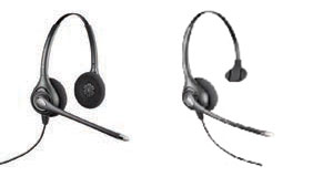 Corded Office Phone System Headsets - HW261N Binaural and HW251N Monaural models