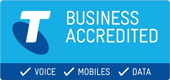 Phone Systems Perth - Telstra Business Accredited Logo